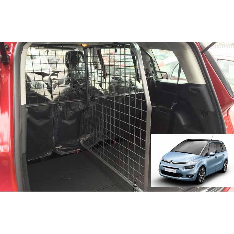 grille auto pour chien citroen c4 picasso 7 places grand c4 picasso 2 de 09 2013. Black Bedroom Furniture Sets. Home Design Ideas