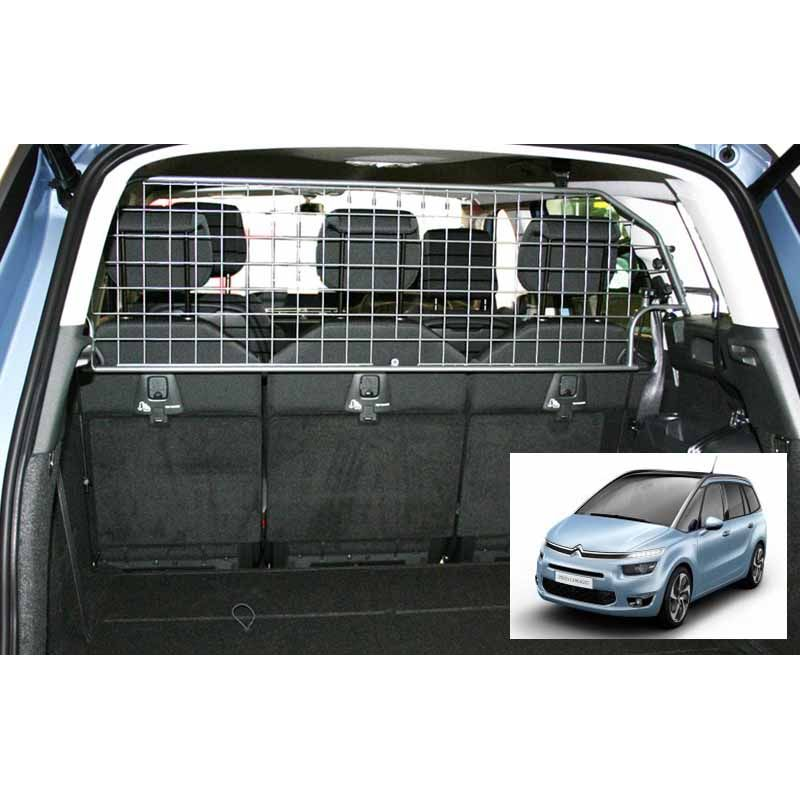 grille auto pour chien citroen c4 picasso 7 places grand c4 picasso 2 de 09 2013. Black Bedroom Furniture Sets. Home Design Ideas