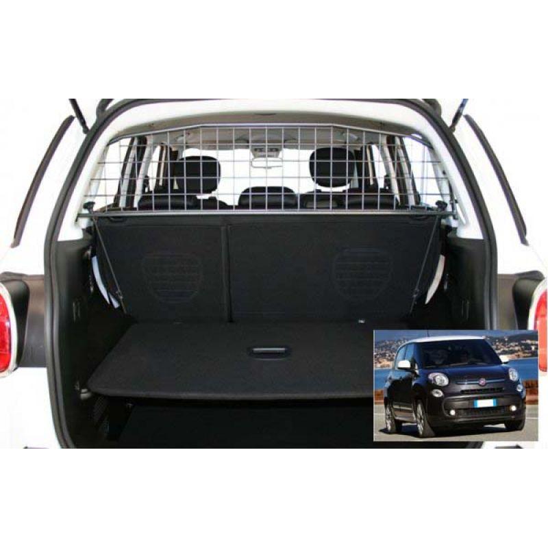 Grille auto pour chien fiat 500l grille coffre voiture 500l for Interieur de voiture sur mesure