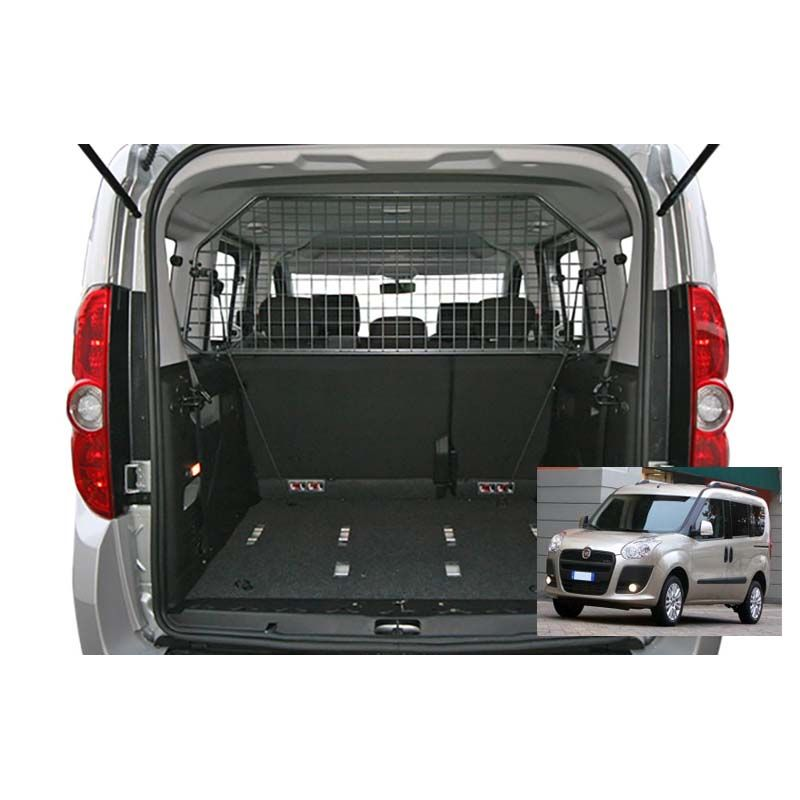 grille auto pour chien fiat doblo ii 5 places de 03 2010 grille coffre voiture doblo. Black Bedroom Furniture Sets. Home Design Ideas