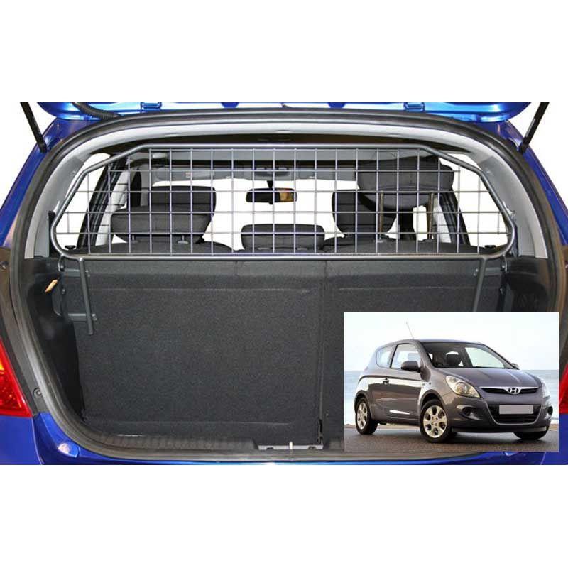 grille auto pour chien hyundai i20 1 phase 2 de 09 2011 09 2014 grille coffre voiture. Black Bedroom Furniture Sets. Home Design Ideas