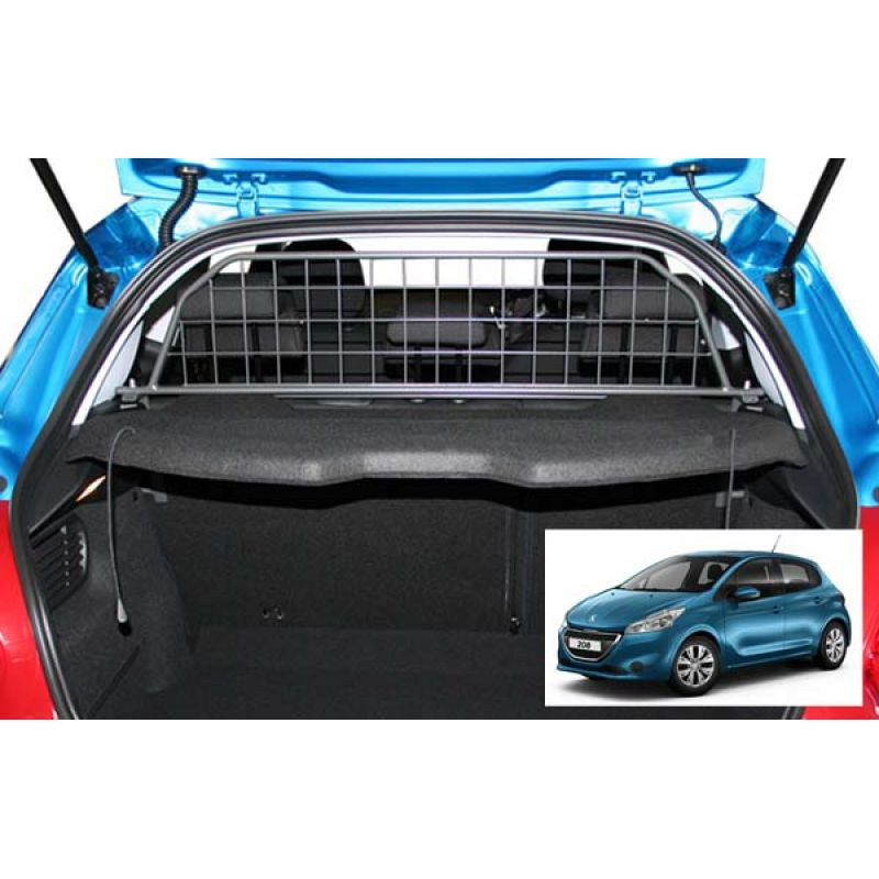 grille auto pour chien peugeot 208 grille coffre voiture 208. Black Bedroom Furniture Sets. Home Design Ideas