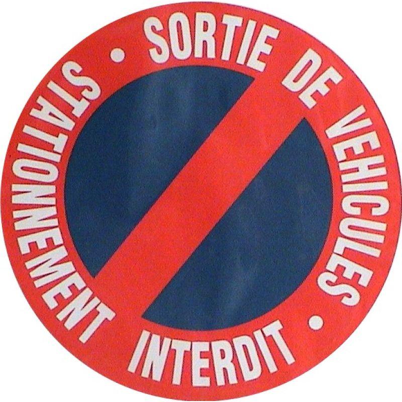 Plaque panneau stationnement interdit pour entr e parking for Panneau d interdiction de stationner devant un garage