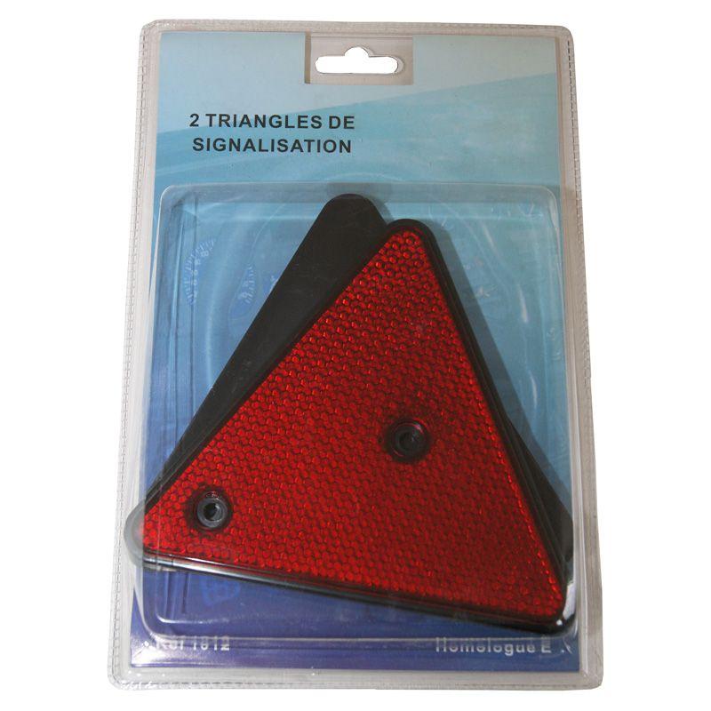 triangle catadioptre de signalisation pour remorque auto. Black Bedroom Furniture Sets. Home Design Ideas