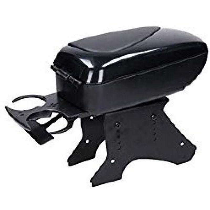 accoudoir auto central universel en simili cuir noir et porte gobelet. Black Bedroom Furniture Sets. Home Design Ideas