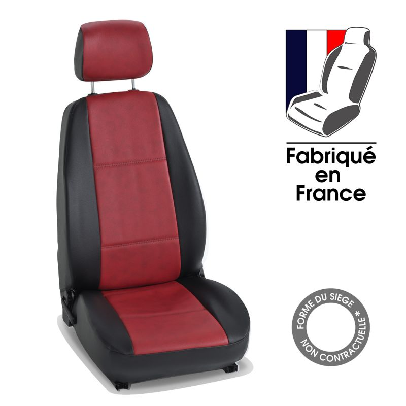 Housse siege voiture cuir rouge for Housse sieges voiture