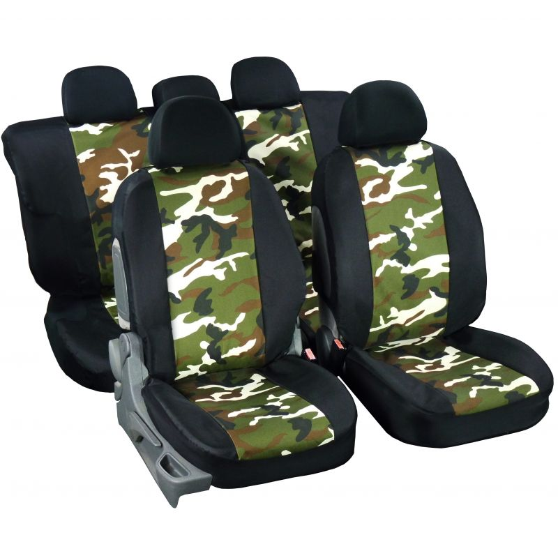 housses de si ge auto toile imperm able camouflage chasse et p che. Black Bedroom Furniture Sets. Home Design Ideas