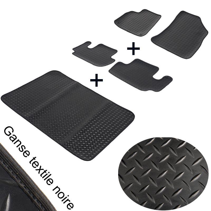 tapis auto sur mesure caoutchouc toyota avensis 1 complet coffre. Black Bedroom Furniture Sets. Home Design Ideas