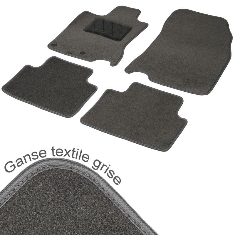 tapis auto sur mesure opel crossland x moquette gris tailor. Black Bedroom Furniture Sets. Home Design Ideas