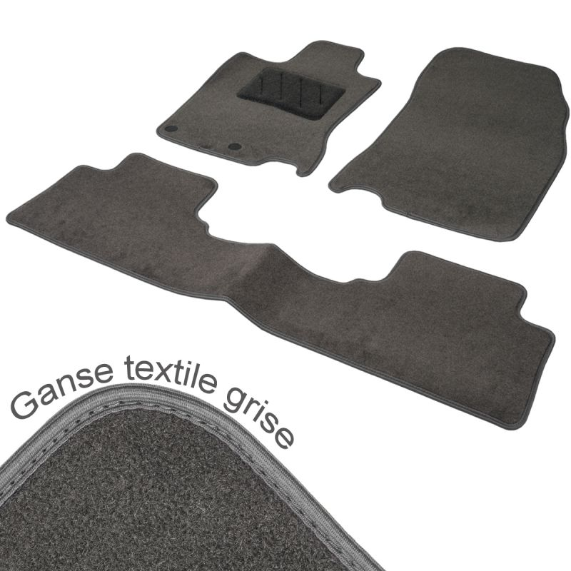 tapis auto sur mesure renault scenic 3 moquette gris tailor 2 avant arri re. Black Bedroom Furniture Sets. Home Design Ideas