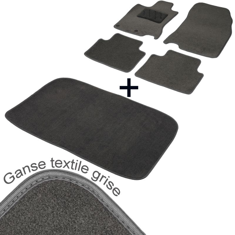 tapis auto ford kuga 1 moquette gris avec coffre tailor. Black Bedroom Furniture Sets. Home Design Ideas