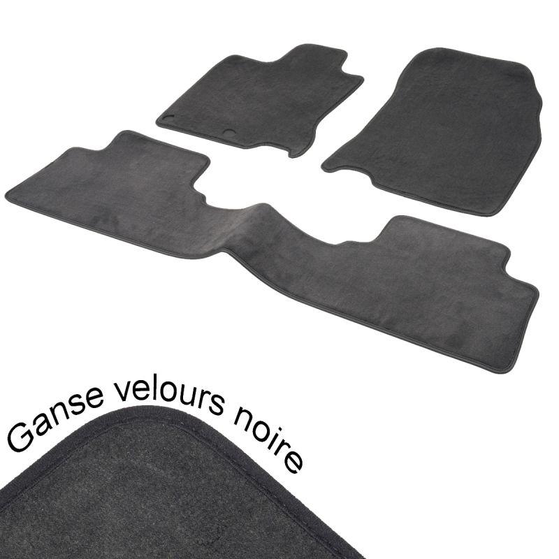 tapis auto sur mesure opel agila a aspect velours noir pr sident. Black Bedroom Furniture Sets. Home Design Ideas