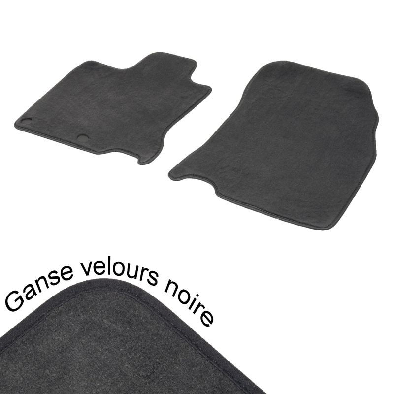 tapis auto avant mitsubishi colt 5 aspect velours noir. Black Bedroom Furniture Sets. Home Design Ideas