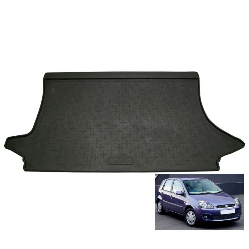tapis de coffre auto sur mesure caoutchouc ford fiesta 5 de 04 2002 08 2008. Black Bedroom Furniture Sets. Home Design Ideas