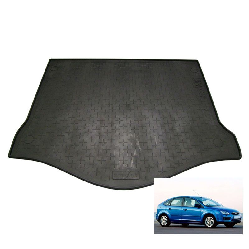 tapis de coffre auto sur mesure caoutchouc ford focus 2 de 11 2004 02 2011. Black Bedroom Furniture Sets. Home Design Ideas
