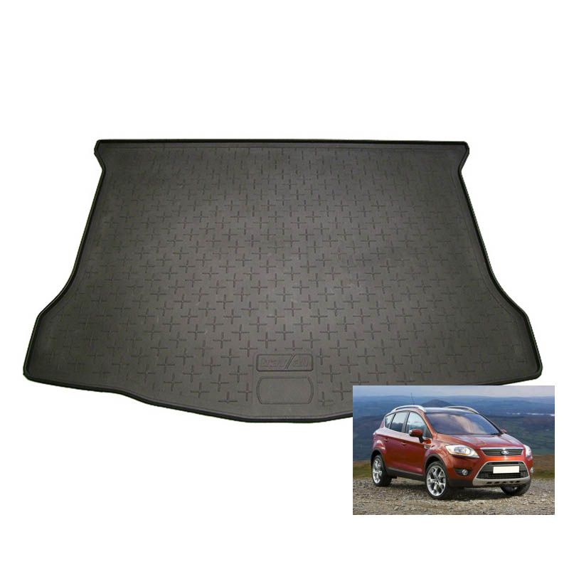 tapis de coffre auto sur mesure caoutchouc ford kuga 1 de 06 2008 01 2013. Black Bedroom Furniture Sets. Home Design Ideas