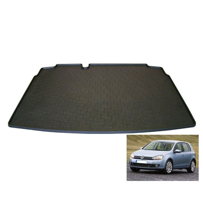 tapis de coffre auto sur mesure caoutchouc volkswagen golf 6 de 11 2008 10 2012. Black Bedroom Furniture Sets. Home Design Ideas