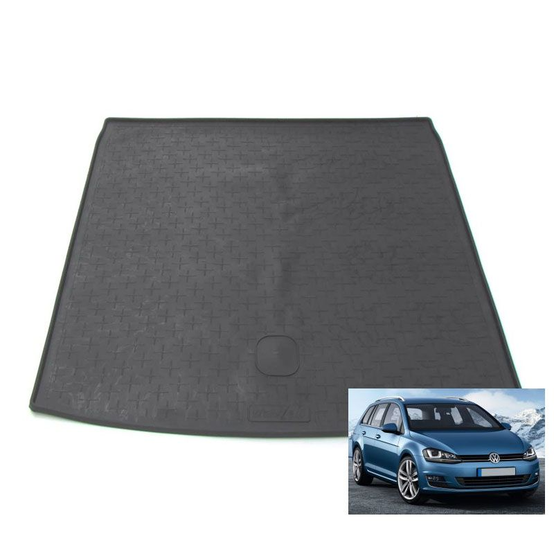 tapis de coffre auto sur mesure caoutchouc volkswagen golf 7 sw break de 09 2013. Black Bedroom Furniture Sets. Home Design Ideas