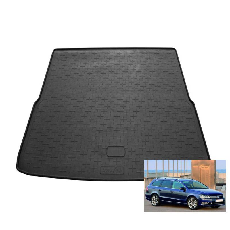 tapis de coffre auto sur mesure caoutchouc volkswagen passat 7 sw break de 11 2010 09 2014. Black Bedroom Furniture Sets. Home Design Ideas