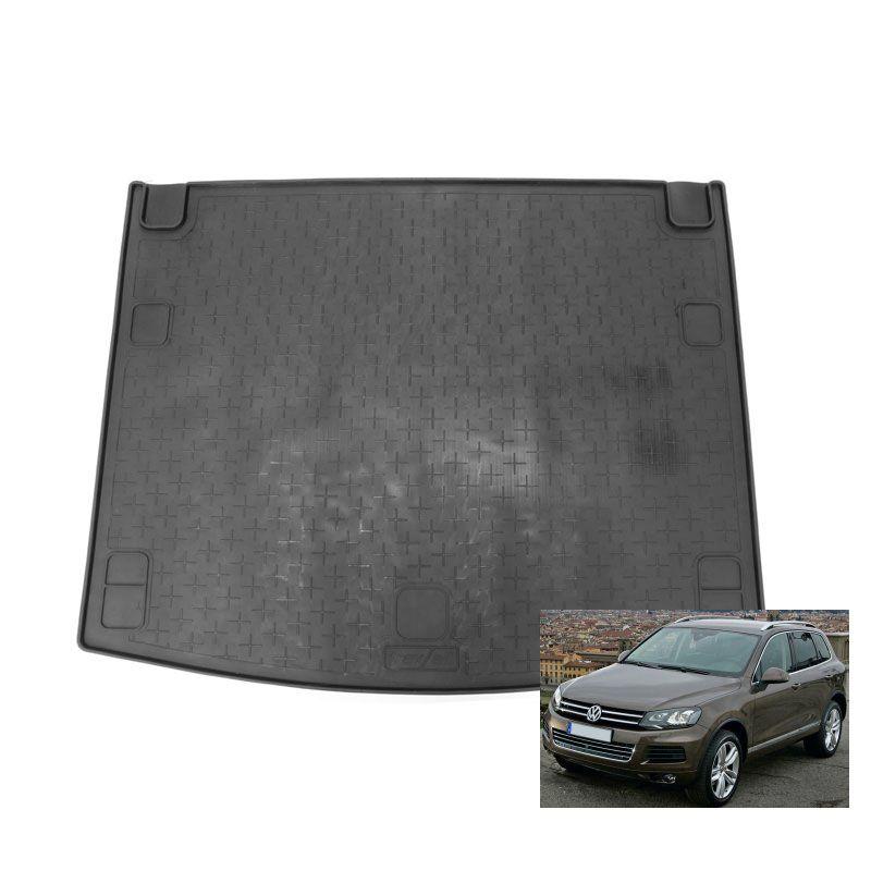 tapis de coffre auto sur mesure caoutchouc volkswagen touareg 2 de 06 2010. Black Bedroom Furniture Sets. Home Design Ideas