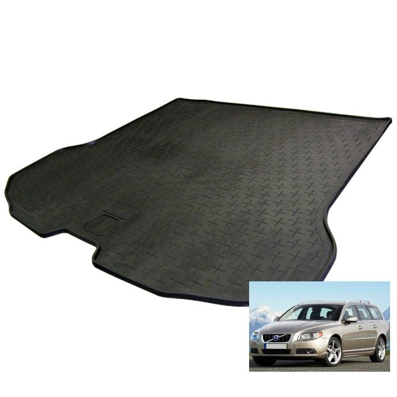 tapis de coffre auto sur mesure caoutchouc volvo v70 3 de 01 2008. Black Bedroom Furniture Sets. Home Design Ideas